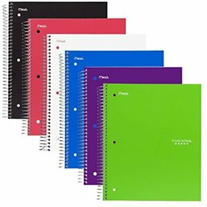 Spiral Notebooks 2 Subject College Ruled Paper 120 Sheets 9 1 2 X 6 Size