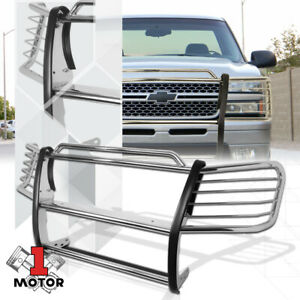 1 5 Stainless Steel Grille Brush Headlight Guard For 02 06 Chevy Avalanche 1500