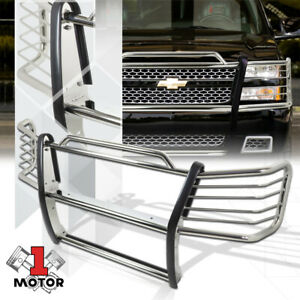 Stainless Steel Grille brush headlight Guard For 03 07 Silverado 1500 Hd 2500