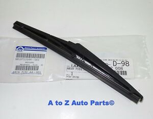 New 2014 2019 Jeep Grand Cherokee Rear Liftgate Wiper Blade Refill Oem Mopar