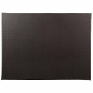 24 X 18 Pu Leather Desk Pad Protector Laptop Mat Mouse For Office Home Brown