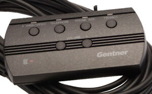 Gentner Ti gt Wired 6 Button 4 Led Conference Hybrid Remote Control 910 110 100