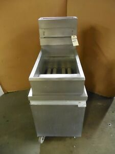Market Forge M18 Natural Gas 40lb Deep Fryer Pitco Frialator no Baskets