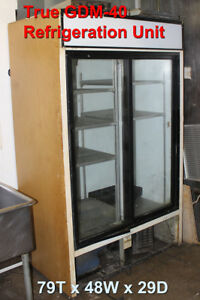 True Gdm 40 Commercial Refrigerated Glass Door Merchandiser Two Door 40 Cu Ft