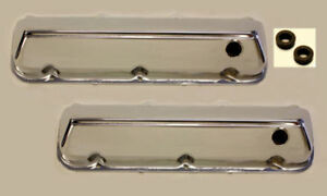 Chrome Steel Valve Covers Ford 429 460 Big Block 68 up