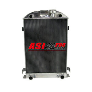 4 Row 60mm Aluminum Radiator For 35 36 Ford Model A Flathead 1935 1936 28 Height