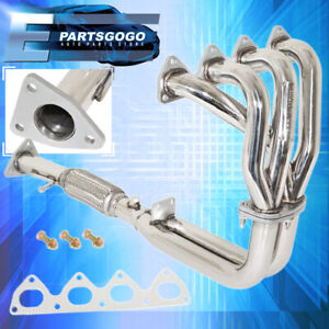 For 1993 1996 Honda Prelude Si 2 2l H22 Vtec H22a Stainless Steel Exhaust Header