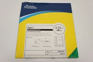 38959 0827 Boston Scientific Ptca Dilatation Cath 2 75mm X 8mm x