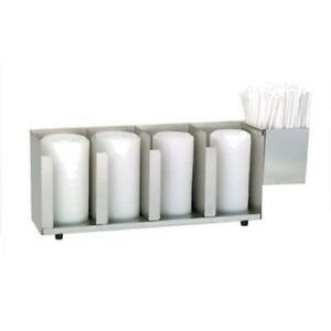 Dispense rite Ctld 19a Four Section S s Cup And Lid Organizer