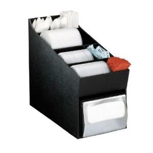 Dispense rite Nlo ldnh Countertop Lid Straw Condiment And Napkin Organizer