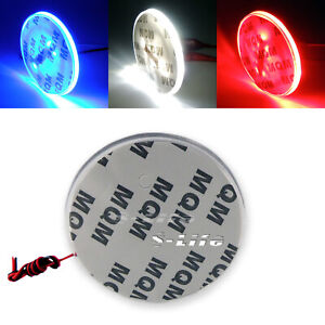 Background 82mm Tail Badge Emblem Logo Led Light Emblem For Bmw 3 5 7 Series X3
