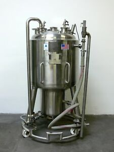 Precision 350 Liter Stainless Steel Jacketed Reactor W Load Cells Rated 45 Psi