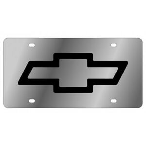 Bow Tie License Plate Mirrored Aluminum Tag Bow Tie Fits Chevy Chevrolet