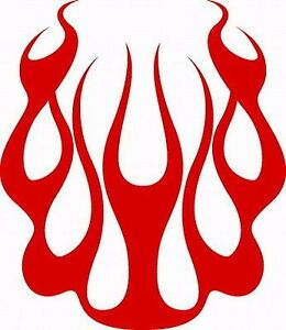 Flame Hood Car Truck Van Suv Decal Multiple Colors usa Free Shipping 23 x20