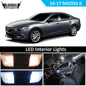 White Led Interior Light Accessories Package Kit Fits 2014 2017 Mazda 6