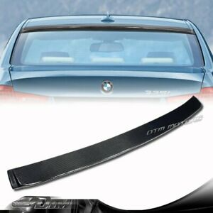 Real Carbon Fiber Rear Roof Spoiler Wing For 2006 2011 Bmw E90 3 Series Sedan