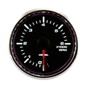 52 Mm Auto Tachometer Waterproof For Diesel White Led Back Light Waterproof