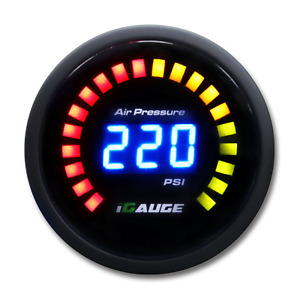 52mm Digital Blue Led Air Pressure Gauge For Air Suspensin Air Ride psi