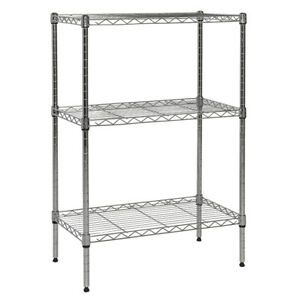 Apollo Hardware 3 shelf Nsf Wire Shelving Rack With Wheels 14 x24 x36