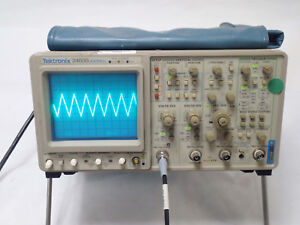 Tektronix 2465b 400 Mhz Analog 4 Channel Oscilloscope Opt 05 09 10 tested