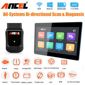 Automotive Obd2 Scanner Full System Abs Epb Srs Dpf Reset Tablet Diagnostic Tool