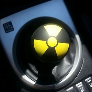 New Hot Universal Momo Yellow Nuclear Sign Bullet Type Manual Gear Shift Knob