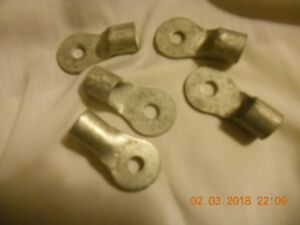 Qty 50 Tinned Copper Cable Lug 2 Awg Terminals Welding Battery 1 4 Hole