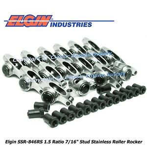 Stainless Steel Roller Rocker Arms 1 5 Ratio Fits Pontiac 350 400 428 455