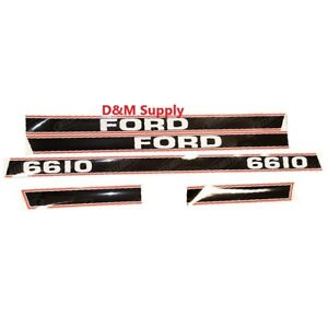 Ford Tractor Decal Set 6610 Stickers 1115 1596