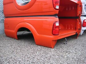Ford Super Duty F250 F350 New Take Off 8 Truck Bed Box Orange With No Tailgate