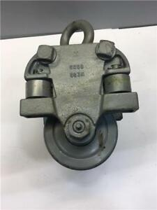 Jervis B Webb Detroit 1 Ton Capacity 4 5 I Beam Hoist 2 Wheel Trolley 6968