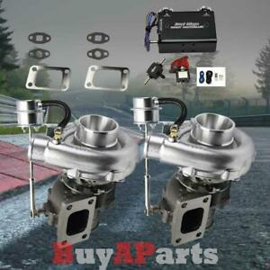 Upgrade Racing Vband Twin Turbocharger Black Dual Stage 30psi Boost Controller