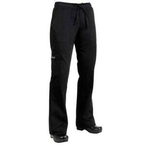 Chef Works Cpwo blk 2xl Women s Black Cargo Chef Pants 2xl