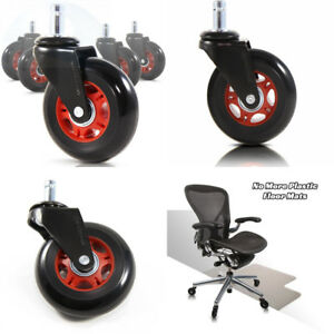 Revosmooth Premium Rollerblade Style Rubber Office Racing Chair Caster Replaceme