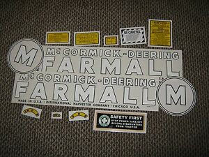 Early Farmall M Decal Set 1939 1944 mccormick deering Farmall