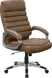 Executive Chair Office Furniture Computer Desk Swivel High Back Modern Brown New