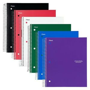 Five Star Spiral Notebooks 5 Subject College Ruled Paper 200 Sheets 1 New