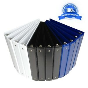 1 Inch Binder 3 Ring durable View Binder assorted Color white black blue