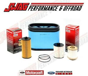 08 10 Ford 6 4 6 4l Powerstroke Diesel Truck Motorcraft Oil Air Fuel Filter Kit