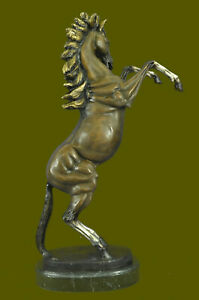 Art Deco Limited Edition Signed 25 Tall Horse Stallion Trophy Bronze Sculpture