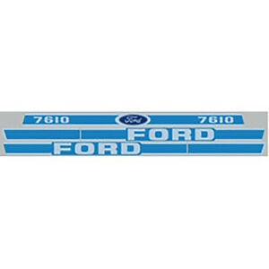 High Quality Blue 7610 Ford Tractor Hood Decal Kit