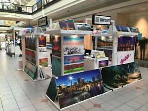 Mall Retail Kiosk Art Paintings Gallery Promotions 10 x12 Gloss White
