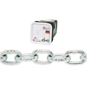 18 45 Steel 3 8 Zinc Plated Grade 30 Proof Coil Logging Towing Chain 0143626