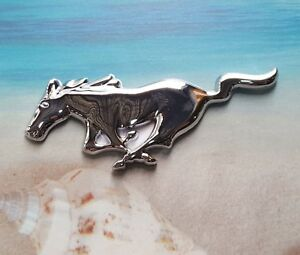 Ford Running Horse Chrome Emblem Badge Door Side Sticker Decal Ford Mustang