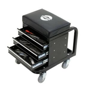 Tool Box Creeper Seat Rolling Garage Shop Steel Hand Tools Storage Chest Drawer