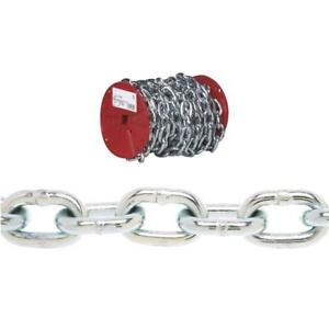 100 Steel Zinc Plated 3 16 Proof Coil Load Binding Logging Chain 0725027