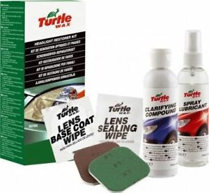 Turtle Wax Headlight Restoration Kit For Vehicle Perfect For Lens Clarifying