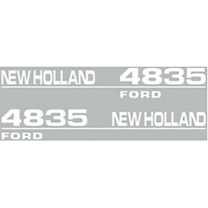 High Quality 4835 New Holland Tractor Hood Decal Kit