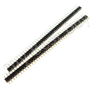50 Male Female Black 40 Round Pins Pcb Single Row 2 54mm Pitch Spacing Header