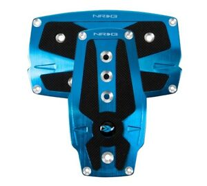 Nrg Innovations Brushed Blue Aluminum Sport Pedal W Black Rubber Inserts At